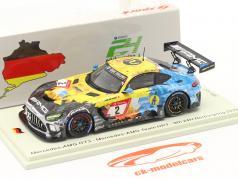 Mercedes-Benz AMG GT3 #2 9-е 24h Nürburgring 2020 Mercedes-AMG Team HRT 1:43 Spark