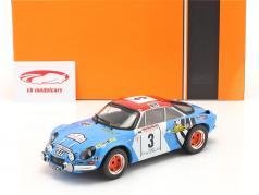 Alpine Renault A110 1800 #3 Rallye Tour de Corse 1973 1:18 Ixo