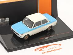 BMW Koepchen 2002 Tii Byggeår 1974 hvid / blå 1:43 Ixo