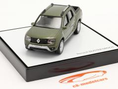 Renault Duster Oroch Pick-Up Ano de construção 2015 verde metálico 1:43 Norev