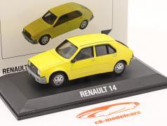 Renault 14 建設年 1976 黄 1:43 Norev