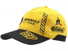 Gorra Renault F1 Team 2019 #3 Ricciardo #27 Hülkenberg amarillo / negro (Niños)