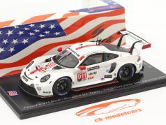 Porsche 911 RSR #911 Tercero Clase GTLM 24h Daytona 2020 Porsche GT Team 1:43 Spark