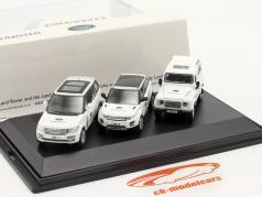 3-Car Set Land Rover Experience 白い 1:76 Oxford