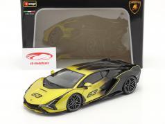 Lamborghini Sian FKP 37 #63 gul / sort 1:18 Bburago