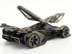Lamborghini V12 Vision GT olive vert / noir 1:18 Maisto