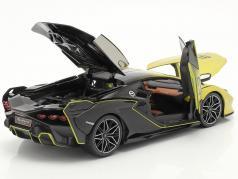 Lamborghini Sian FKP 37 #63 желтый / чернить 1:18 Bburago