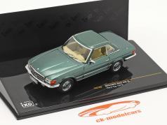 Mercedes-Benz 350 SL Hardtop year 1972 green metallic 1:43 Ixo