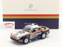 Porsche 959 #186 勝者 Rallye Paris - Dakar 1986 と ショーケース 1:18 Spark