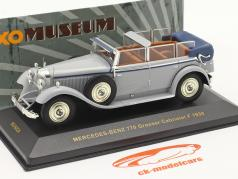 Mercedes-Benz 770 Grosser Cabriolet F 1930 grey / blue 1:43 Ixo