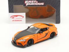 Han's Toyota GR Supra Fast & Furious 9 (2021) arancia / nero 1:24 Jada Toys