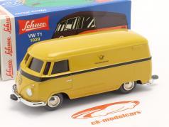Micro Racer Volkswagen VW T1 Varevogn tysk Federal Post gul 1:40 Schuco