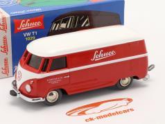 Micro Racer Volkswagen VW T1 Furgoneta caja Schuco rojo / blanco 1:40 Schuco