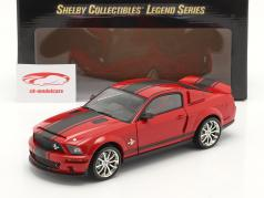 Ford Mustang Shelby GT 500 Super Snake 2008 rojo / negro 1:18 ShelbyCollectibles