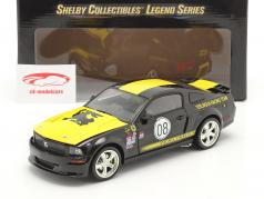 Ford Mustang Shelby GT #08 Terlingua Racing 2008 negro 1:18 ShelbyCollectibles