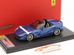 Ferrari 812 GTS Spider Baujahr 2019 blau metallic / weiß 1:43 LookSmart