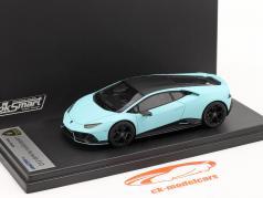 Lamborghini Huracan Evo Fluo Capsule 2020 mat licht blauw 1:43 LookSmart