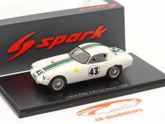 Lotus Elite #43 勝者 GT1300 24h LeMans 1964 Hunt, Wagstaff 1:43 Spark