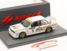 BMW M3 (E30) #5 1000 Lakes Rallye フィンランド 1988 Vatanen, Berglund 1:43 Spark