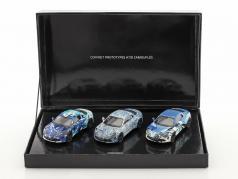 3 auto's set Alpine Coffret A 110 Prototype bouwjaar 2017 camouflage 1:43 Norev