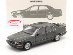 BMW 730i (E32) 建設年 1986 濃い緑色 メタリック 1:18 Minichamps