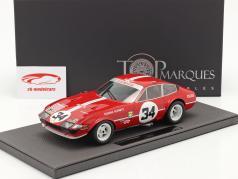 Ferrari 365 GTB/4 Daytona #34 7º 24h LeMans 1972 1:18 TopMarques