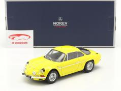 Alpine A110 1600S 建設年 1971 黄 1:18 Norev