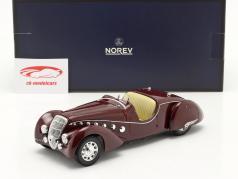 Peugeot 302 Darl'Mat Roadster 建設年 1937 暗赤色 メタリック 1:18 Norev