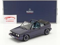 Volkswagen VW Golf Cabriolet Abrir Costa Ano de construção 1991 roxo metálico 1:18 Norev