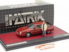 Citroen CX 25 GTi Turbo 2 1986 TV-Serie Tatort mit Figur rot 1:43 Matrix