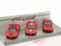 3-Car Set Ferrari Race & Play vermelho 1:43 Bburago