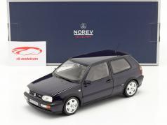 Volkswagen VW Golf VR6 bouwjaar 1996 blauw metalen 1:18 Norev