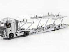 Mercedes-Benz Actros Gigaspace 4x2 SZM Edition 1 car transporter silver 1:18 NZG