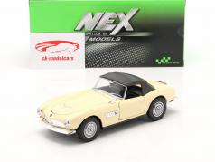 BMW 507 Convertible Closed Soft Top cream white 1:24 Welly