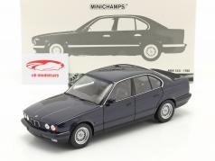 BMW 535i (E34) 建設年 1988 青 メタリック 1:18 Minichamps