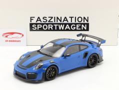 Porsche 911 (991 II) GT2 RS Weissach Package 2018 voodoo blå / sort fælge 1:18 Minichamps