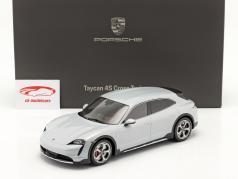Porsche Taycan Turbo S Cross Turismo 2021 isgrå Med Udstillingsvindue 1:18 Minichamps