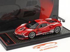 Ferrari 488 Challenge Evo #28 2020 corsa vermelho 1:43 BBR
