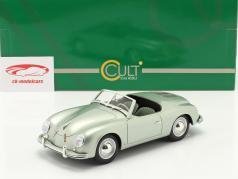 Porsche 356 America Roadster 1952 prata verde metálico 1:18 Cult Scale