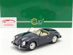 Porsche 356 America Roadster 1952 donkerblauw 1:18 Cult Scale