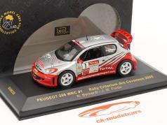 Peugeot 206 WRC n º 1 Criterium des Cévennes 2005 1:43 Ixo