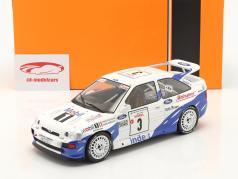 Ford Escort RS Cosworth #3 vencedora Rallye Tour de Corse 1993 Delecour, Grataloup 1:18 Ixo