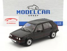 Volkswagen VW Golf II GTI 5ドア 建設年 1984 黒 1:18 Model Car Group