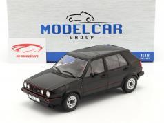 Volkswagen VW Golf II GTI 5 portas Ano de construção 1984 Preto 1:18 Model Car Group