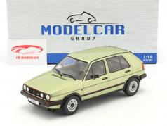 Volkswagen VW Golf II GTI 5ドア 建設年 1984 緑 メタリック 1:18 Model Car Group