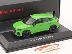 Audi RS Q3 Sportback (F3) Ano de construção 2019 kyalami verde 1:43 Minichamps