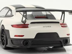 Porsche 911 (991 II) GT2 RS Weissach Package 2018 bianca / nero cerchi 1:18 Minichamps
