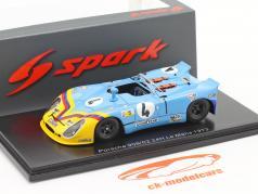 Porsche 908/02 #4 7th 24h LeMans 1973 Ortega, Merello 1:43 Spark