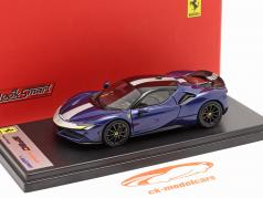 Ferrari SF90 Stradale Année de construction 2019 bleu métallique 1:43 LookSmart