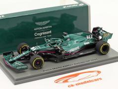 Lance Stroll Aston Martin AMR21 #18 Bahrain GP Fórmula 1 2021 1:43 Spark